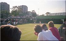 TQ2472 : Wimbledon 1988 - Court 15 by Barry Shimmon