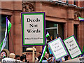 SJ8398 : Manchester Day 2019, 'Deeds not Words' by David Dixon