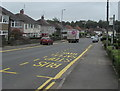 ST2887 : Glasllwch Crescent bus stop, Newport by Jaggery