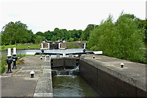 SP1876 : Knowle Middle Lock No 49 south-east of Solihull by Roger  Kidd