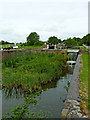 SP1976 : Basin by former lock near Knowle, Solihull by Roger  Kidd
