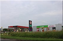 TF1018 : New petrol station on the A15 entering Bourne by David Howard