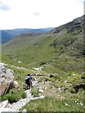 SH6052 : Descent towards Bwlch Cwm Llan by Gareth James