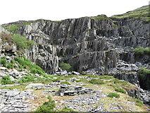 SH5745 : Gorseddau quarry by Gareth James