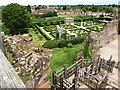 SP2772 : Looking towards the Tudor Garden from the Strong Tower at Kenilworth by David Gearing