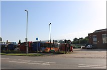 SP8988 : Stagecoach bus garage on Station Road, Corby by David Howard
