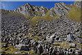 NG9312 : Boulder field below The Saddle by Ian Taylor