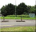ST1688 : Parc Pontypandy pedestrian refuge, Caerphilly by Jaggery