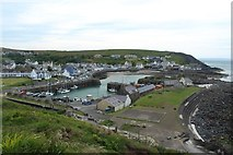 NW9954 : View across Portpatrick from the North west by Graham Robson