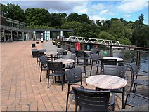NS3882 : Seating area Lomond Shores by Steve Houldsworth