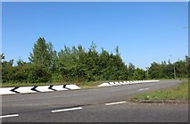 SP8945 : Roundabout on the A509, Chicheley by David Howard