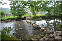 NY1700 : Ford and Stepping Stones on River Esk by John Walton