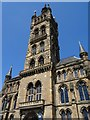 NS5666 : Tower and spire, University of Glasgow by Philip Halling