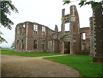 TL0339 : The south front of Houghton House, Ampthill by Humphrey Bolton