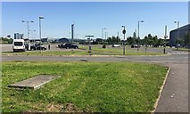 NS5566 : Car park for Riverside Museum, Pointhouse Place, Glasgow by Robin Stott