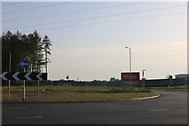 SP9187 : New junction on Stamford Road, Corby by David Howard