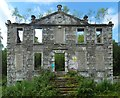 NS3881 : The ruins of Woodbank House by Lairich Rig