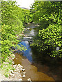 NY9038 : The River Wear downstream from Haswick's Bridge by Mike Quinn