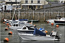 SX2553 : West Looe: Boats on the mud bank by Michael Garlick