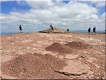 SO0121 : Man-made mounds on the summit of Pen-y-Fan by Alan Hughes
