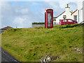 HU3733 : Red Telephone Kiosk at Bridgend by David Dixon