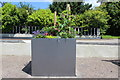 SE2853 : Cubic Planting Tub in Harlow Carr Gardens by Chris Heaton