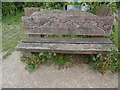 TL1502 : Carved wooden bench near Frogmore by David Hillas