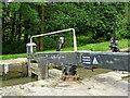 SP1869 : Lock gate west of Rowington Green in Warwickshire by Roger  Kidd