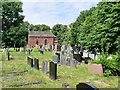 SD4523 : Churchyard, Becconsall Old Church of All Saints by David Dixon