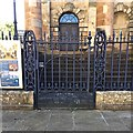 NS5964 : Cast-iron gate, St Andrew's in the Square, James Morrison Street, Glasgow by Robin Stott