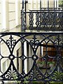 NS5767 : Cast iron railings, Belmont Street, Hillhead by Alan Murray-Rust