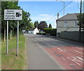 ST3392 : Speed cameras sign, Caerleon Road, Ponthir by Jaggery