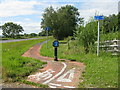 NX4756 : Cycleway and footpath at Carsluith by M J Richardson