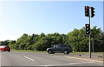 SP8479 : The A43/A14 junction, Kettering by David Howard