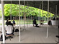 TQ2680 : Serpentine Gallery Pavilion 2019 interior with cafe by David Hawgood