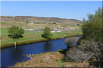NC8952 : Looking across the Halladale River to Trantlemore Cemetery by Tim Heaton