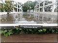 TM3957 : Snape Maltings: footbridge in memory of Ursula Nettleship by Christopher Hilton