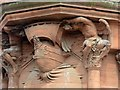 NS5565 : Sculpture over the entrance, Bank of Scotland, Govan by Alan Murray-Rust