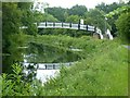 NS5767 : Footbridge, Forth and Clyde Canal, Maryhill by Alan Murray-Rust