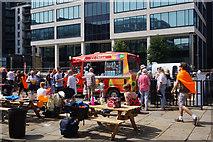 SE3032 : Ice cream van at Leeds Dock, Leeds by Ian S