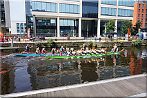 SE3032 : Dragon boat racing at Leeds Dock, Leeds by Ian S