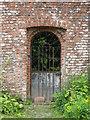NX6054 : Gate at Cally Gardens by M J Richardson