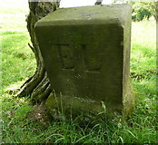 SE2547 : Boundary stone near the line of the old packhorse road, Leathley by Humphrey Bolton