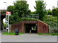 SY6783 : Railway underpass, Station Approach, Upwey by Jaggery