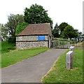 ST6091 : Entrance path to St Arilda's Church, Oldbury-on-Severn by Jaggery