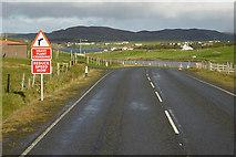 HU3666 : Northbound A970 towards Brae by David Dixon