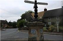 SU1660 : Fingerposts on Ball Road, Pewsey by David Howard