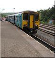 SO1107 : Sprinter in Rhymney railway station by Jaggery