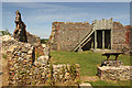 TM1473 : Eye Castle keep by Richard Croft