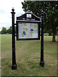 TM1179 : Diss Town Map at Diss Park by Adrian Cable